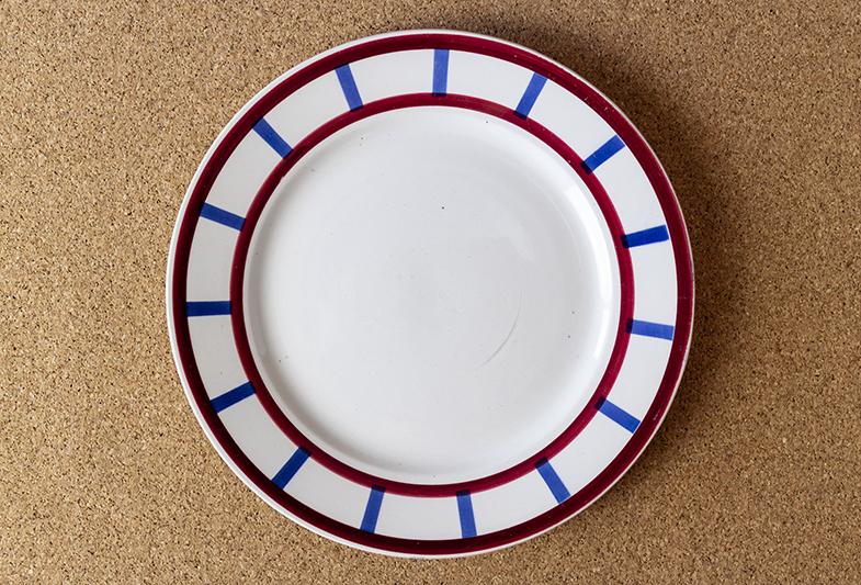 バスク模様デザート皿(Béarn)