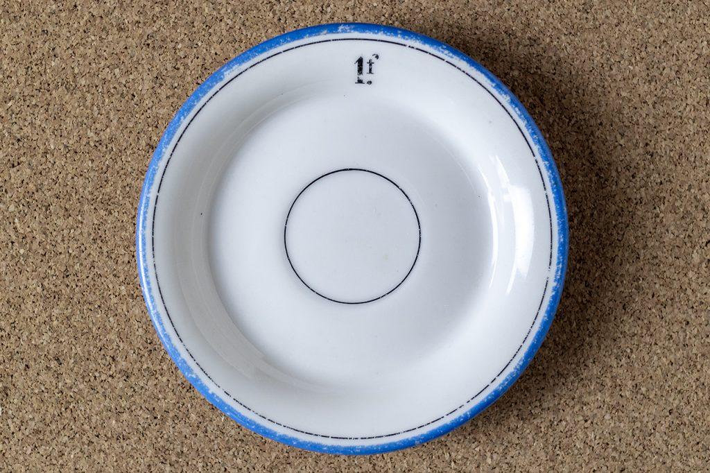カフェ勘定皿(1フラン)