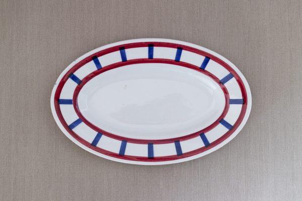 バスク模様オーバル小皿