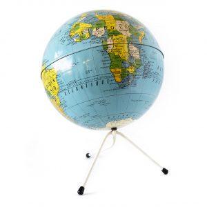 1980年フランス製地球儀(ソ連入り)